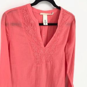 H&M Swim - H&M Coral Embroidered Top/Dress/Swimsuit Cover